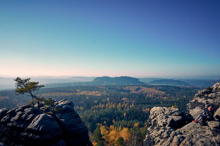 Aussicht vom Gohrisch auf den Pfaffenstein