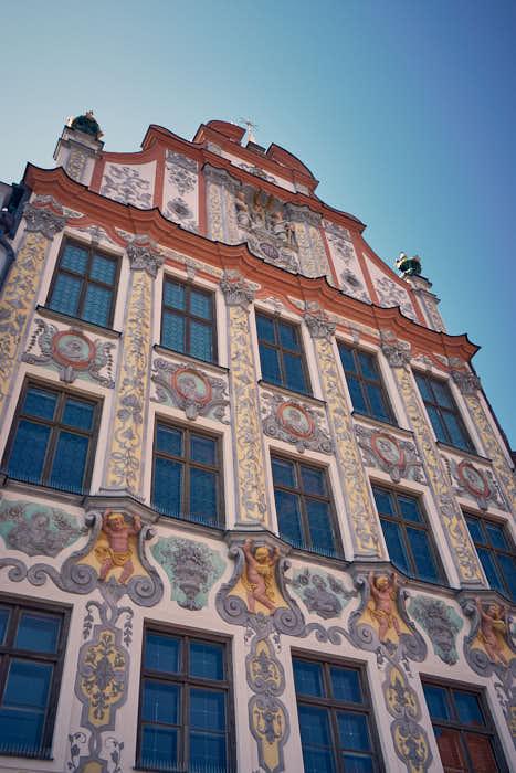 Historisches Rathaus Landsberg Rokokofassade