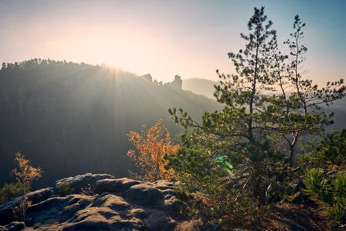 Gipfel Aussicht auf Kleinhennersdorfer Stein
