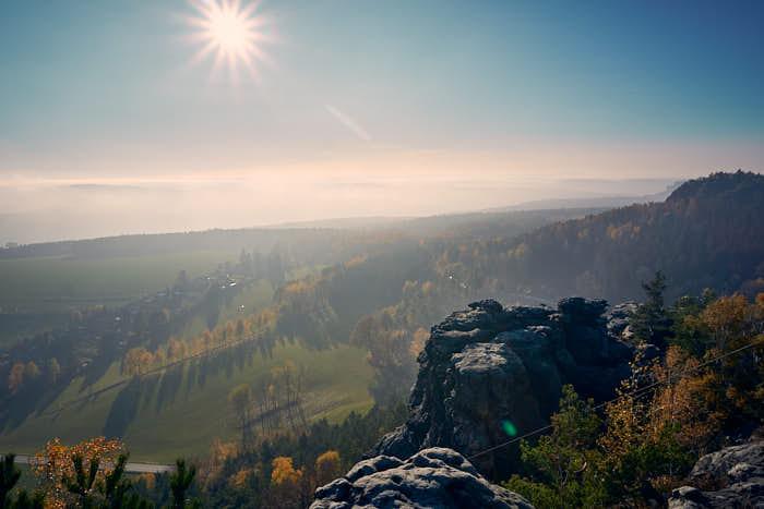 Papststein Panoramaausblick auf die Landschaft