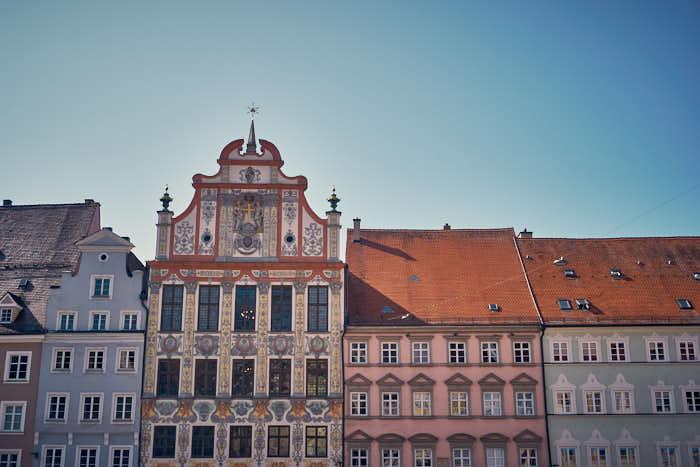 Rathaus am Hauptplatz in Landsberg