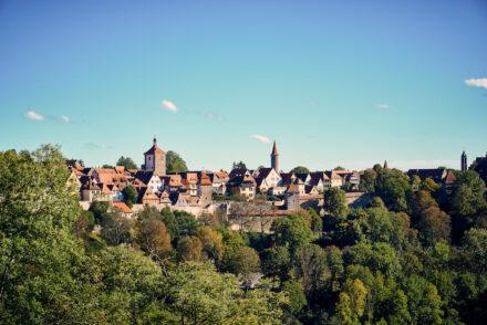 Rothenburg ob der Tauber Taubertal Aussicht