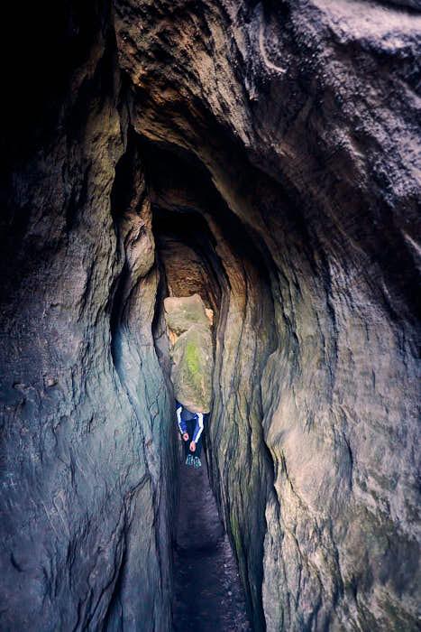 Enge Schwedenhöhle am Gohrisch