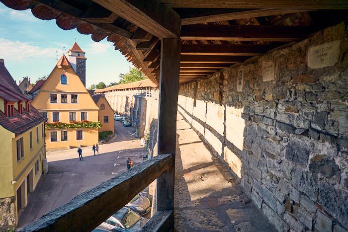 Turmweg in Rothenburg ob der Tauber