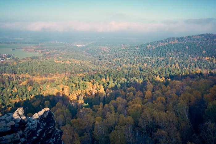 Wälder und Weitblick in der Sächsischen Schweiz