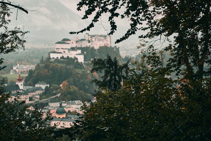 Ausblick Kapuzinerberg auf Festung Hohensalzburg