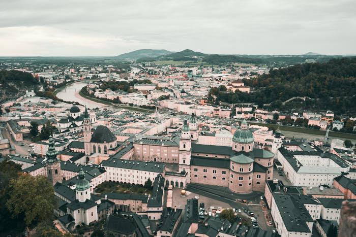 Aussicht Reckturm auf Altstadt Salzburg