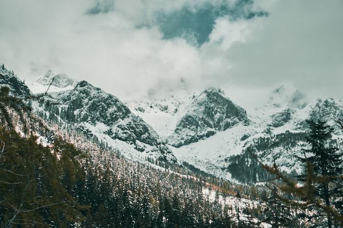Dachstein Nebelwand Panorama
