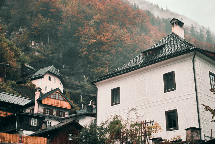 Häuser am Berg