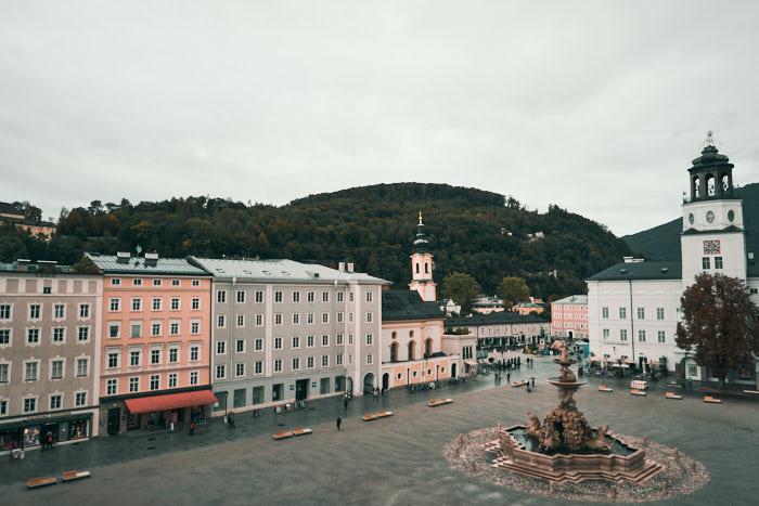 Salzburg Altstadt Residenzplatz