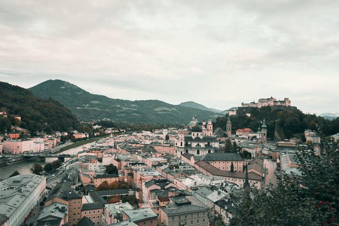 Salzburg Aussicht vom Mönchsberg