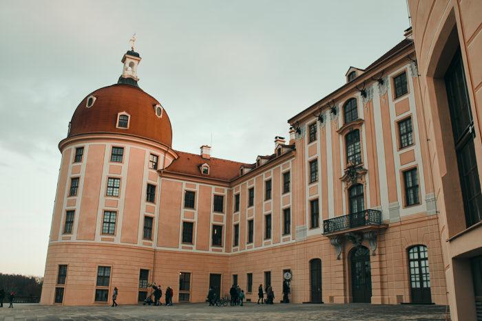 Schloss Moritzburg Rückansicht Turm