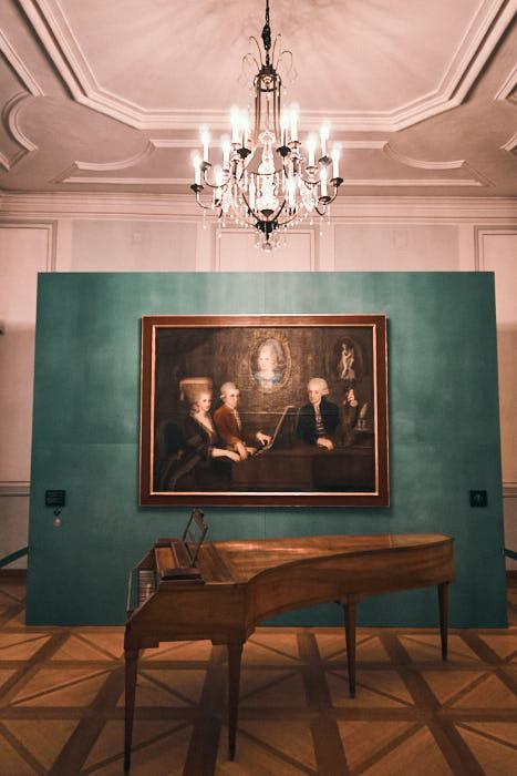 Tanzmeistersaal Mozart Gemälde mit Klavier