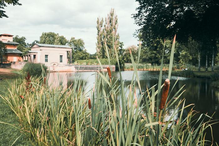 Sanssouci Park mit See