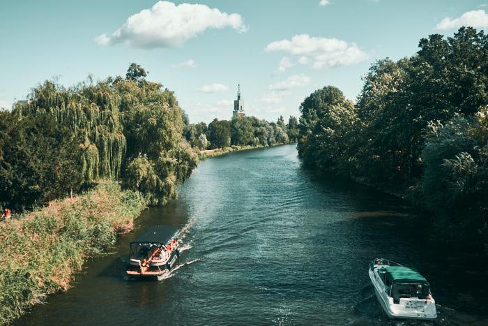 Schiffe auf der Havel in Potsdam