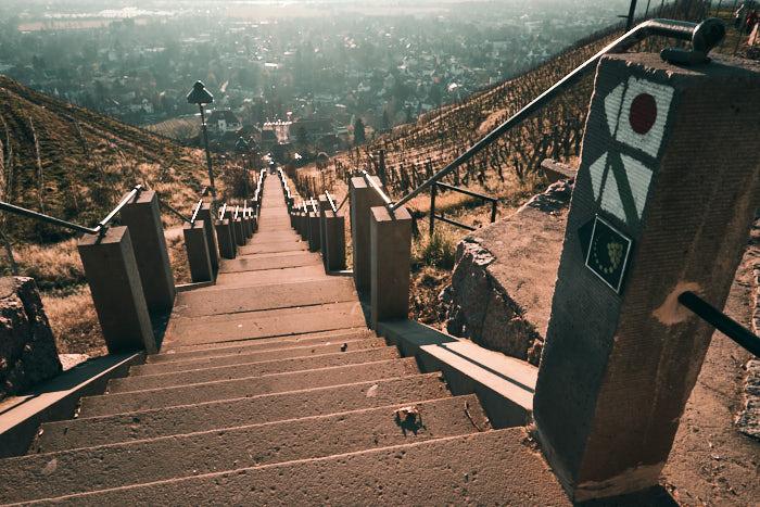 Spitzhaustreppe von oben