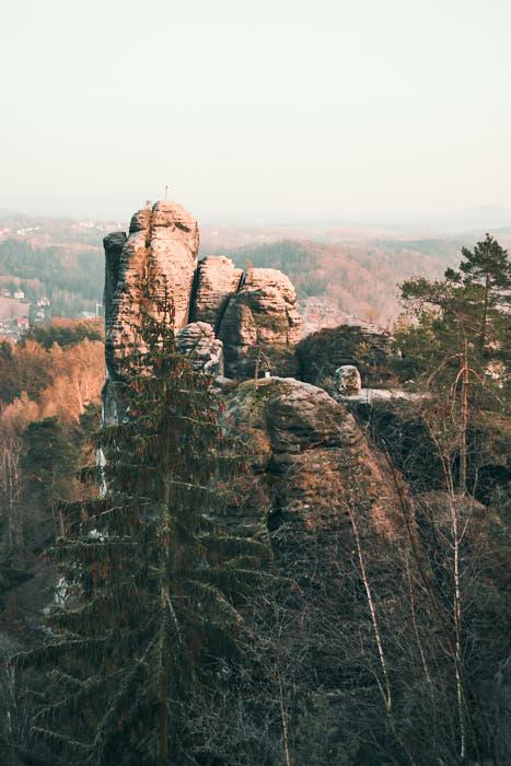 Bastei Mönch Kletterfelsen