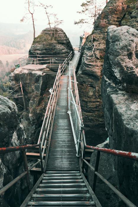 Felsenburg Neurathen Treppen