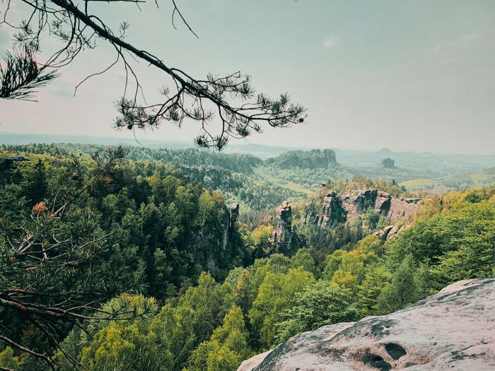 Carolafelsen Aussicht Sächsische Schweiz