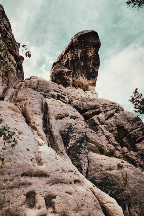 Gamrig Felsen Sächsische Schweiz