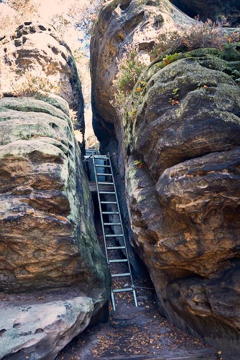Gohrisch Aufstieg Treppe