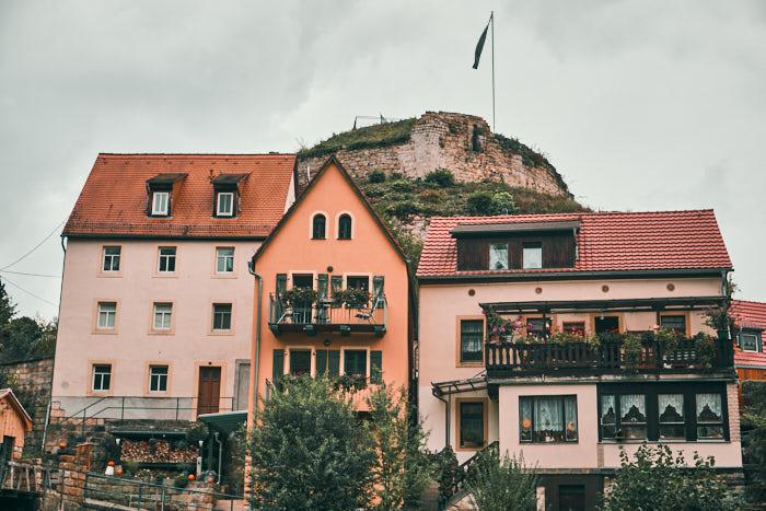 Wehlen Blick Burgruine Sächsische Schweiz