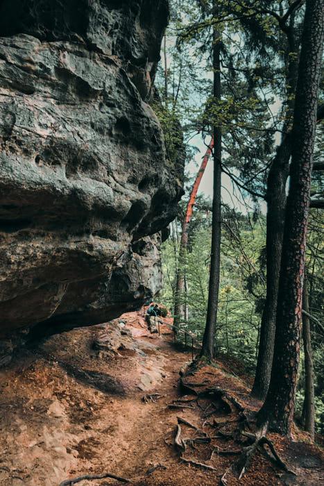 Wolfsschlucht Sächsische Schweiz Wanderung