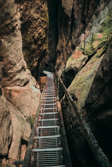 Wolfsschlucht Sächsische Schweiz Treppe