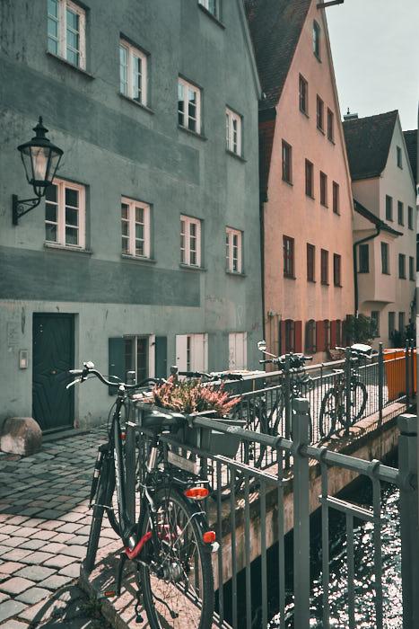 Altstadt Augsburg Impression Fahrräder
