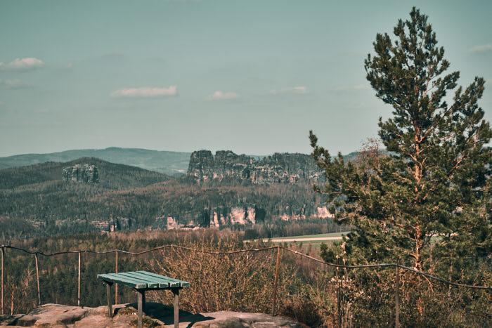 Ausblick Schrammsteine vom Kohlbornstein