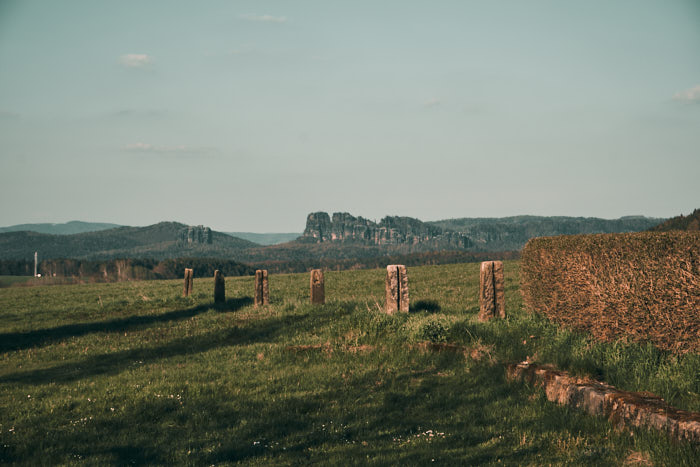 Aussicht Schrammsteine bei Papstdorf