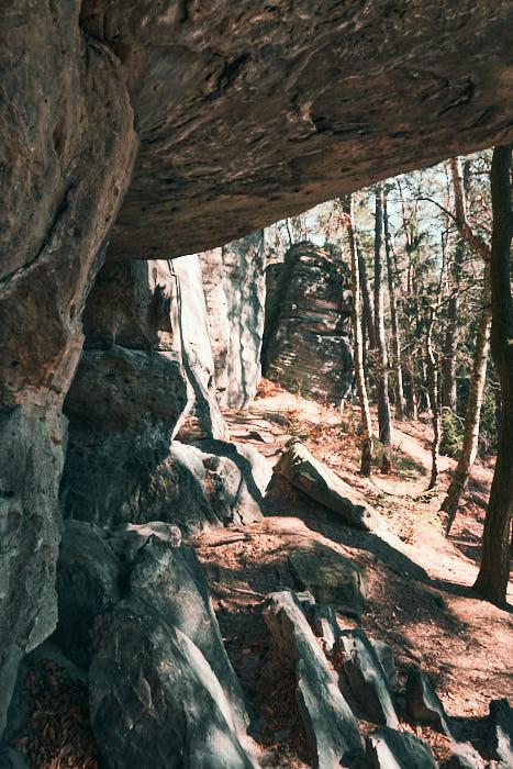 Felsen am Bergsteigerpfad