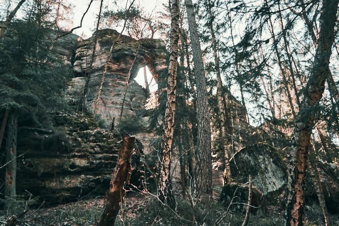 Felsentor beim Kleinen Kuhstall