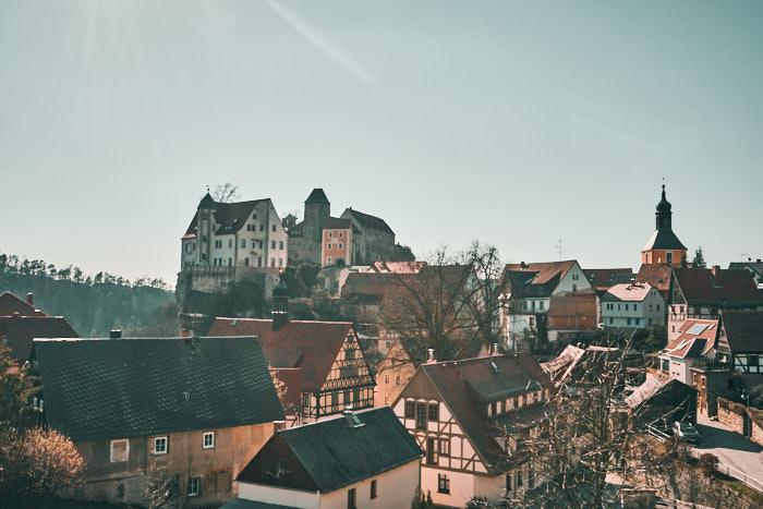 Panoramablick auf Hohnstein