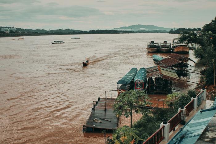 Mekong Golden Triangle Grenze Thailand Laos Myanmar