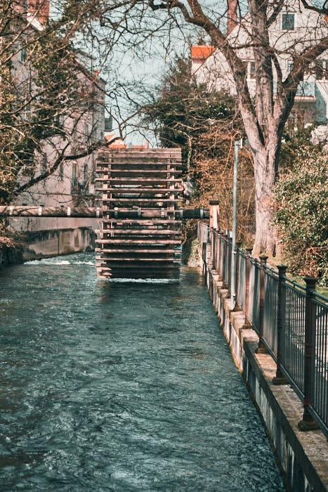 Wasserrad Lechkanal Augsburg