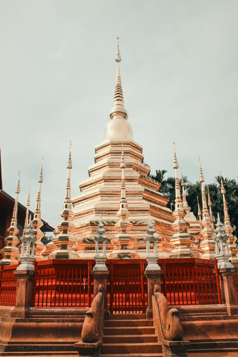 Vergoldetes Wat in Chiang Mai