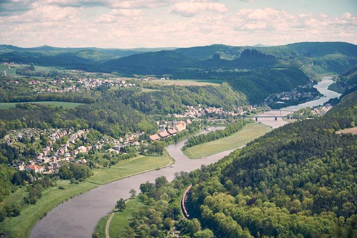 Lilienstein Aussicht Bad Schandau Schrammsteine