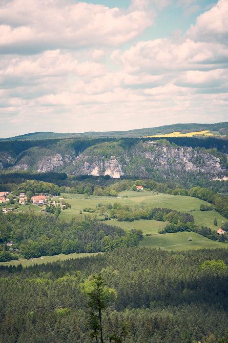 Lilienstein Aussicht Bastei