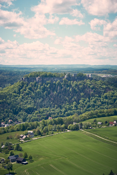 Lilienstein Aussicht Königstein