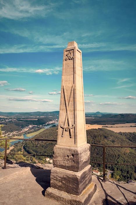 Lilienstein Obelisk August der Starke