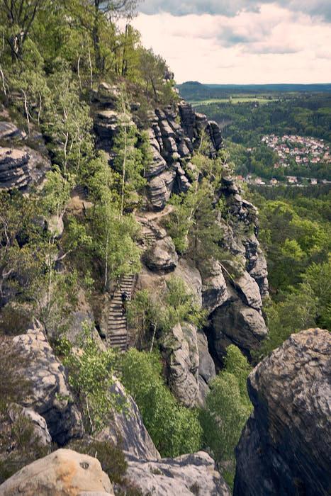 Lilienstein Südaufstieg