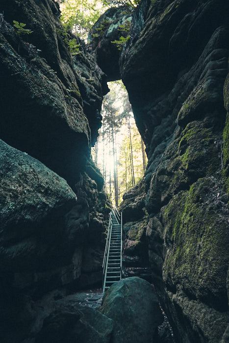 Abstieg im Teufelsgrund Sächsische Schweiz
