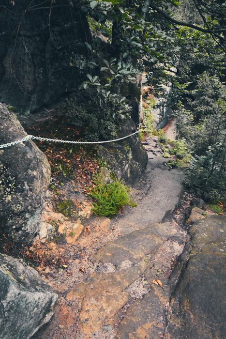 Abstieg Eisenkette Zurückesteig