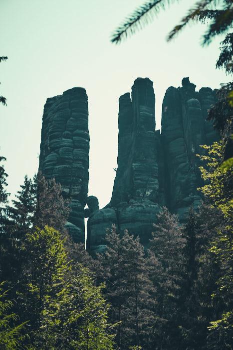 Affensteine mit Bloßstock Felsen