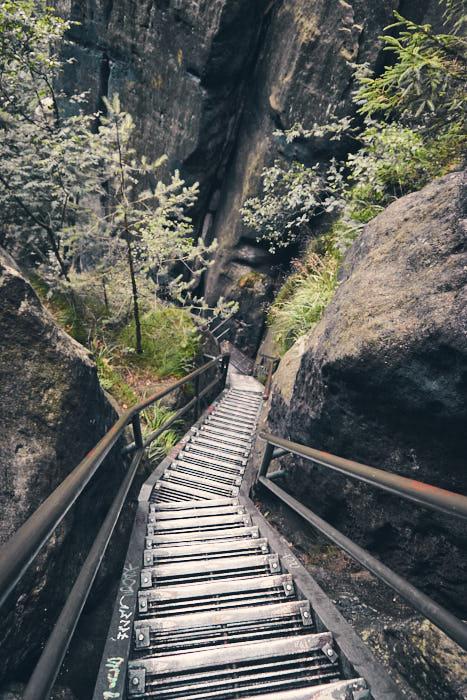 Heilige Stiege Impression Treppen