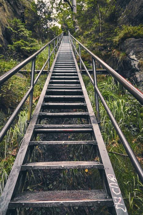 Heilige Stiege Treppenstufen aufwärts