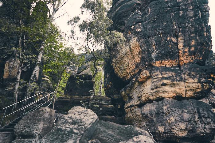 Impression Felsen Aufstieg Heilige Stiege