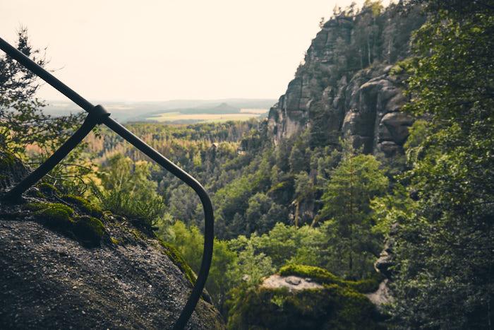 Rotkehlchenstiege Aussicht Falkoniergrund