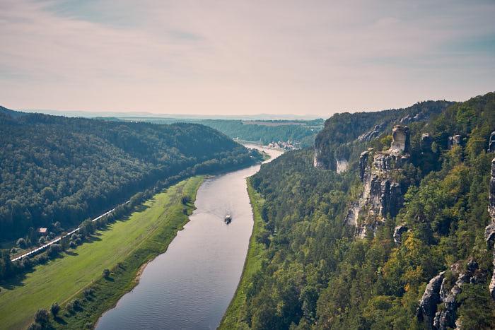 Bastei Aussicht Elbe Tiedgeaussicht